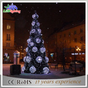 outdoor metal wire decoration snowflake light christmas tree