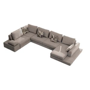 Modern U Shape Sofa for Living Room (F832)