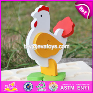 New Product Funny 3D Chicken Children Wooden Puzzles of Animals W14G044 pictures & photos