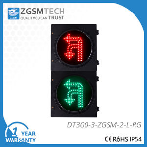 Long Lifespan Two Color Two Aspects 300mm LED U Turn Traffic Signal