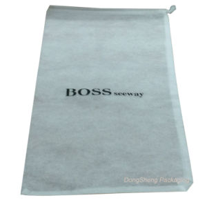 White Cool Branded Non-Woven Shoes Gift Shopping Bag