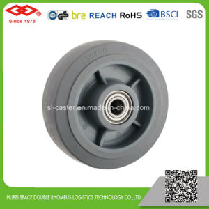 125mm Rotating High Elastic Rubber Wheel (P704-34FF125X50) pictures & photos