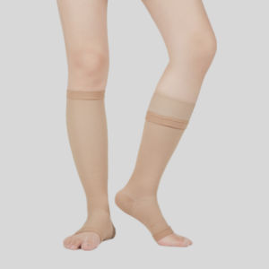 5280909e23 China FDA Support Unisex Knee High Open Toe Graduated Compression ...