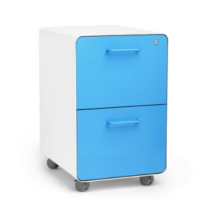 Home Office 2 Drawer Metal File Cabinet On Wheels