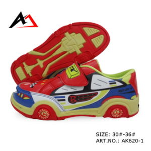 Leisure Walking Shoes Lovely Cartoon Car Shape for Children (AK620-1) pictures & photos