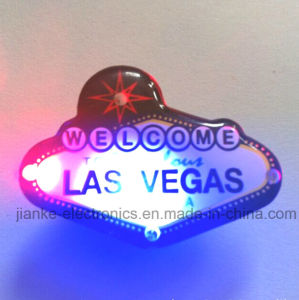 Flashing LED Light-up Logo Magnet Pin with Logo Printed (3161)