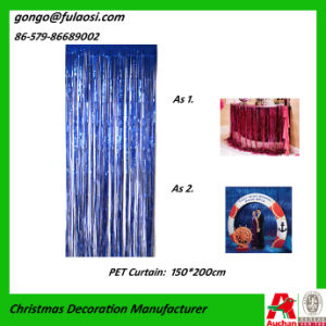 Metallic Curtain for Wedding/Christmas/Holiday Decoratin