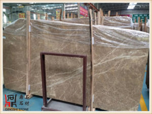 Natural Stone Spanish Light Emperador Marble Slabs for Wall Tile