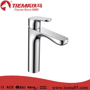 New Design Polished Brass Body Chrome Bathroom Brass Basin Faucet (ZS41603A)
