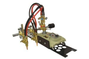 Double Torch Cutting Machine Gas Cutter with 1.8m Hole Rail