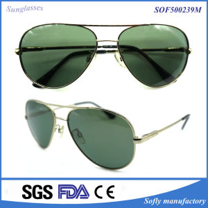 Promotion Newest Double Bridge Pilot Metal Sunglasses Polarized pictures & photos