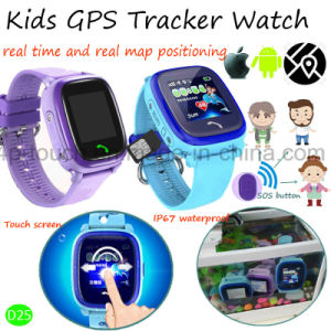 High Quality Kids SOS Safety GPS Tracker Watch with Waterproof D25 pictures & photos