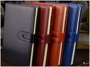 Notebook with Buckles, Creative Business Leather Diary Notebook