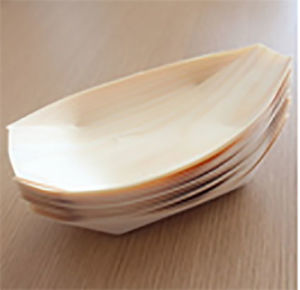Disposable Wooden Sushi Serving Tray Boat pictures & photos