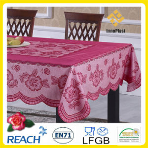 PVC /Vinyl Plastic Color Lace Tablecloth Ready Made pictures & photos
