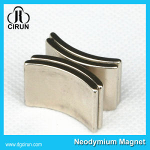 Nickel Plated Arc Shap Strong Neodymium Motor Magnet