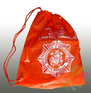 Hot Sales Printed Drawstring PE Bags pictures & photos