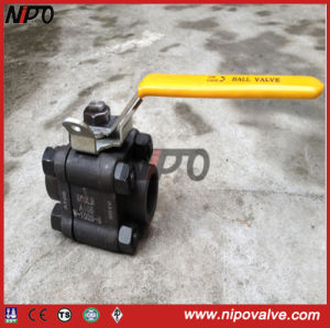 Forged Steel Floating 3-PCS Ball Valve pictures & photos