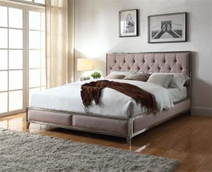 Modern New Fabric Double Popular Home Bedroom Furniture
