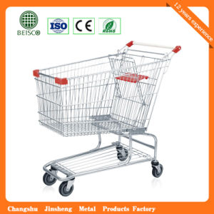 4 Wheel European Supermarket Plastic Shopping Trolley pictures & photos