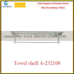 Sanitary Ware Bathroom Brass Fittings Brass Single Towel Shelf pictures & photos