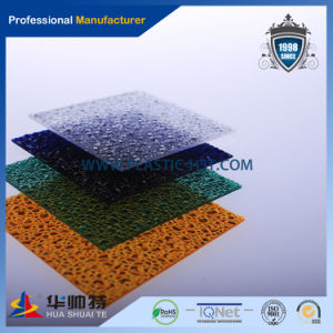 100% Virgin Bayer Material High Quality Transparent PC Solid Embossed Diamond pictures & photos