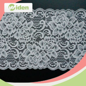 1.5cm White Swiss Flower Design Stretch Lace pictures & photos