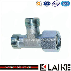 (CD) Carbon Steel Barrel Tee Fittings with Swivel Nut