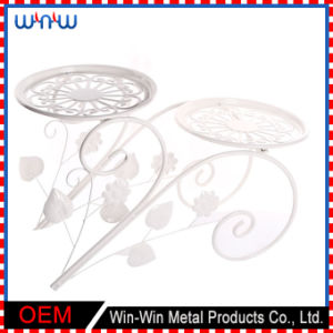 Custom Pot Stand Modern Home Decoration Living Room Wrought Iron Flower Stand for Wedding pictures & photos