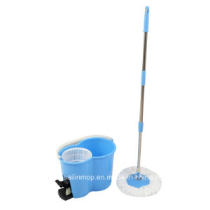 Hand Press Spin Mop with Plastic Basket Bucket with Pedal (SL-S001)