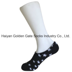 Half Cushion Poly Fashion Print Chuck Hidden Liner Socks (JMPT01) pictures & photos