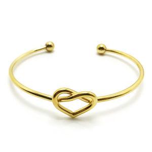 China Fashion Women Stainless Steel Bangle Heart Gold Bracelet ... 43953cf349