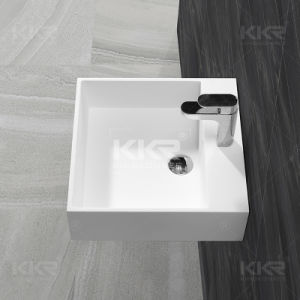 Bathroom Furniture Acrylic Stone Double Bowl Wash Basin pictures & photos