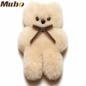 Small Cuddle Sheepskin Bear Buttermilk pictures & photos