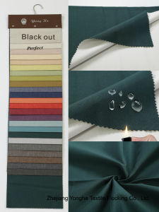 3 Pass Coated Waterproof Flame Retardant Blackout Woven Polyester Curtain Fabric