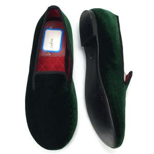 ad488394cef China Lady Loafers Navy Plain Velvet Slipper Albert Slipper for Lady ...