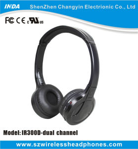 Dual Channel IR Wireless Headphone for TV
