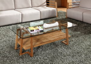 Solid Bamboo with Glass Surface Tea Table Coffee Table pictures & photos