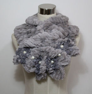 Lady Fashion Faux Fur Pearl Scarf (YKY4365A-3) pictures & photos