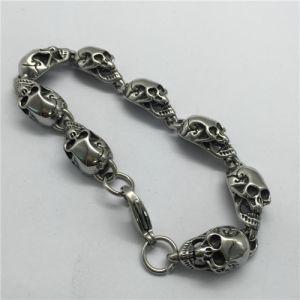 Skulls Biker Links Chain Band Bracelet