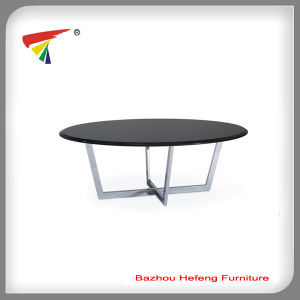 Gloss MDF Glass Coffee Table (CT101) pictures & photos