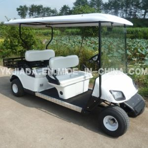 CE Approved 4 Seat Electric Sightseeing Cart with Canopy (JD-GE502C) pictures & photos