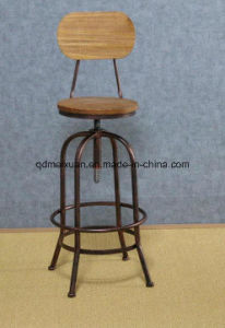 American Retro Bar Chairs Solid Wood Do Old, Wrought Iron Chair Lift Bar  Chair High Rotating Bar Chair Adjustable Chair (, M X3218)
