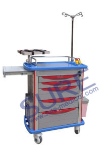 CE Popular Good Quality Medical Trolley/Emergency/Anesthesia/Clinical Trolley pictures & photos