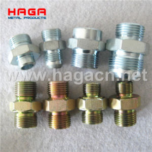 Double Connection Adapter Straight Metric Thread Hydraulic Connector pictures & photos