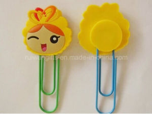 Popular Cartoon New Soft PVC Rubber Kids Book Clip pictures & photos