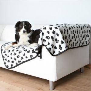 Peachy Dog Blanket Dog Cover 100 Polyester Fleece Pet Blanket Pet Sofa Cushion Pet Travel Blankets White Paw Printed Whpp061155 Andrewgaddart Wooden Chair Designs For Living Room Andrewgaddartcom