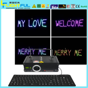 A18/400~500MW RGB Writetyping Laser Light with Keyboard