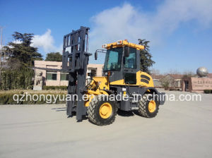 Rough Terrain Forklift Cpcy30 with 50HP Engine pictures & photos