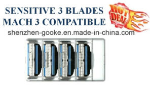 Hot Sale Shaving Razor for Gillette Mach 3 in Original Box 8 Count with Free Handle